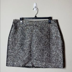 Banana Republic Metallic Mini Skirt